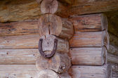 Caída de herradura en esquina casa de registro. símbolo de luch — Foto de Stock