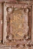 Ancient wooden door fragment. — Foto de Stock