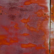 Stock Photo: Rusty tin wall.