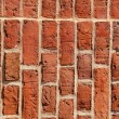 Royalty-Free Stock Photo: Old brick wall built of clay bricks.
