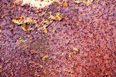 Time and corrosion affected surface steel surface — Stock Photo