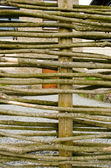 Background fence weaven wooden branch house yard — Stock Photo
