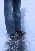 Buz kız bacakları — Stok fotoğraf