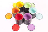 Rainbow Paint Circle — Stock Photo