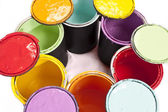 Paint Cans Colorful — Stock Photo