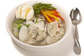 Korean Dumpling Soup — Stock Photo