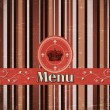 Template for a restaurant menu — Stock Vector