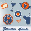 Royalty-Free Stock Vector Image: Set of different cocktail stickers