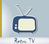 Retro TV background — Stock Vector