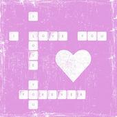 Coeur avec texte je t'aime — Vecteur