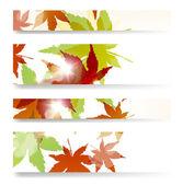 Herfst banner — Stockvector