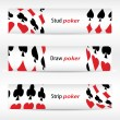 Special banners with poker design — Stock Vector #10832606