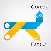 Career and family balance — Stock Vector