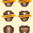 Vector set of retro labels — Stock Vector