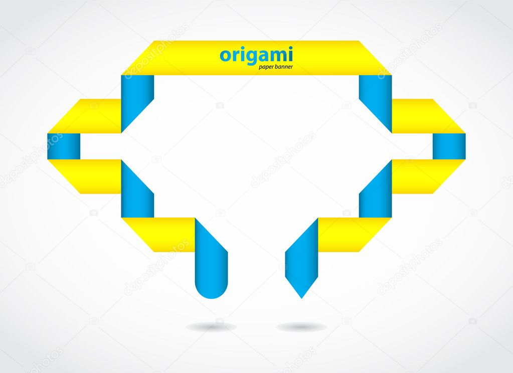 Abstract origami speech bubble vector background — Stock Vector #11455667