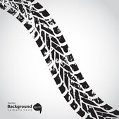 Tire track background — Vector de stock
