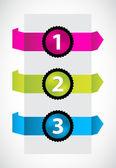时尚的颜色折纸与特殊的编号按钮 — 图库矢量图片