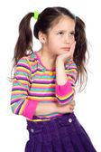 Portrait of pensive little girl — Stock Photo