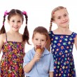 Three kids with ice cream — Stock Photo #11563718