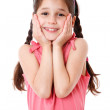 Surprised and smiling little girl — Stock Photo #11863311
