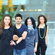 Group of college students smiling — Stock Photo #11069420