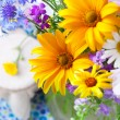 Stock Photo: Beautiful wildflowers