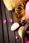 Essential oils and bath products — Stock Photo
