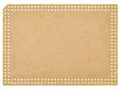 Punchcard ビンテージ空の白い紙で隔離 — ストック写真