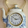 Stock Photo: Retro original teapot form design clock