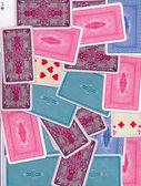 各种卡背背景 — 图库照片
