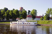Gediminas castle and Neris river in Vilnius — Stock Photo