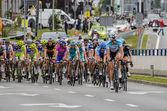 69 tour de pologne, 4 etapie od będzinie katowice. — Zdjęcie stockowe