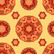 Ornamental round seamless floral lace pattern. vector — Stock Vector
