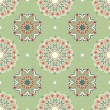 Ornamental round seamless floral lace pattern. vector - Stock Vector