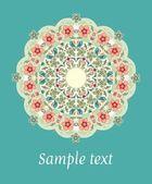 Decoratieve ronde bloemen kantpatroon — Stockvector
