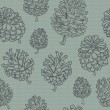 Seamless vector background with cones. - Stock vektor