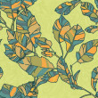 Seamless pattern of autumn leaves. colorful autumn leaves. outlines and bright colors - Stock Vector