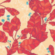 Leaf seamless background. Autumn  red leaves - Stock Vector