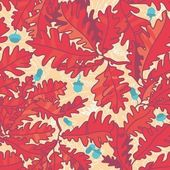 Autumn background with oak leaves , seamless pattern — Stock Vector