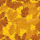 Pattern of oak autumn leaves. seamless pattern. — Stock Vector
