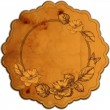 Vintage round frame adorned with roses. Vector illustration. — Stock Vector