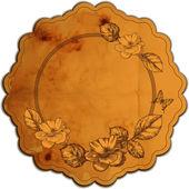 Vintage frame redondo adornado com rosas. ilustração vetorial. — Vetor de Stock