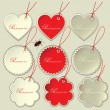 Set of tags to the festive Valentine's Day. Vector illustration. — Stock Vector