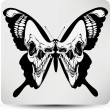 Butterfly skull. Vector illustration — Stock Vector