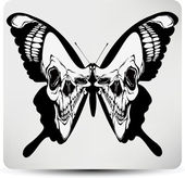 Butterfly skull. Vector illustration — Vector de stock