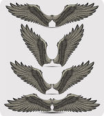Wings set. Vector illustration. — Stockvector