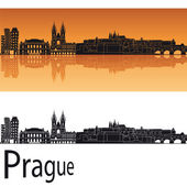Prague skyline — Stok Vektör