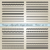 Vintage calligraphic design elements — Stock Vector
