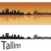 Tallinn skyline — Stock Vector