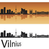 Vilnius skyline — Stock Vector
